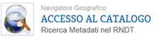 Logo ricerca metadati nel catalogo RNDT